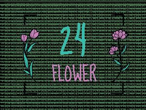 Logo 24 flower
